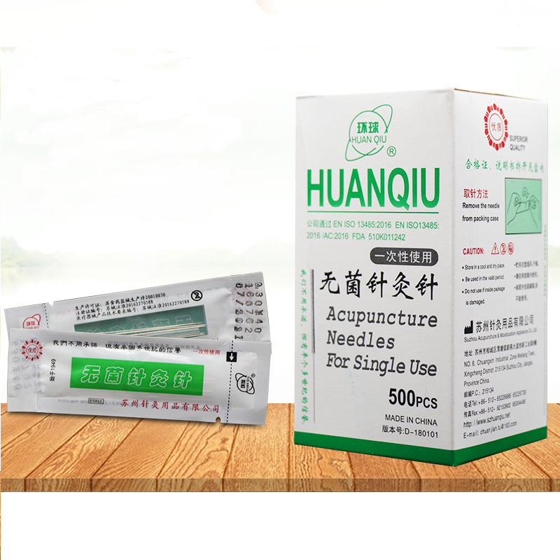 500 個ユニバーサル治療鍼針使い捨て鍼針の滅菌 acupuntura 針 10 でチューブ -    グループ上の 美容
