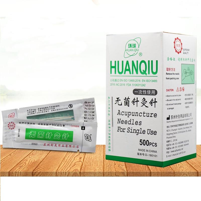 500 pcs Universal as agulhas de acupuntura agulhas de acupuntura descartáveis estéreis as agulhas de acupuntura terapia 10 pcs com um tubo