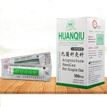 Agujas de acupuntura desechables para terapia Universal agujas de acupuntura estériles para acupuntura, con tubo, 500 Uds.