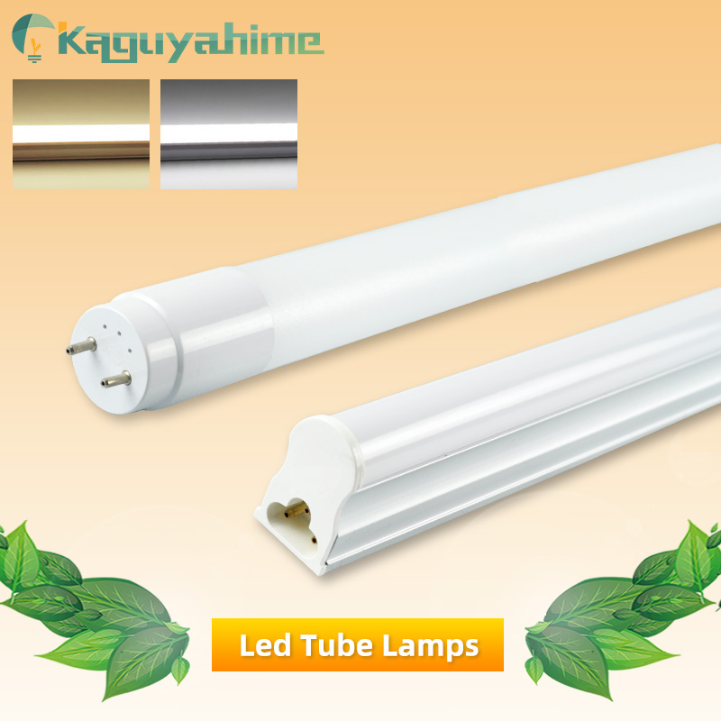 Kaguyahime LED Tube T8 T5 Integrated 6W 10W 220V/110V Fluorescent Tube LED T5 Light Tube Lamp Lighting 30cm 60cm Warm White Cold
