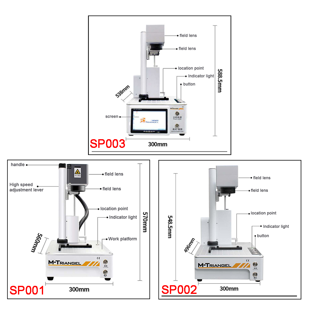 Tools : M-Triangel Laser Separating cutting Making Machine For IPhone X XS Max XR 8 Back Glass Remover LCD Frame Repair LCD Separater