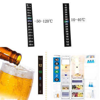 1PC Fish Tank Sticker Thermometer Temperature Sticker Aquarium Accessories Digital Dual Scale Stick-on High Quality Durable New image