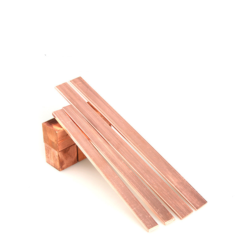 """C110 1//2/"""" thick x 6/"""" wide x 4/"""" long Flat Copper Bar Stock"""