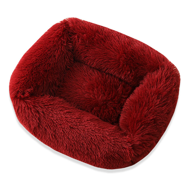 Super Soft Dog Bed House Dog Mat Plush Cat Mat Cats Nest For Large Dogs Bed Labradors House Round Cushion Pet Product Supplies 15
