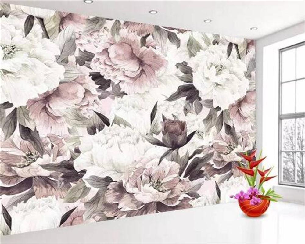 Beibehang Fashion 3d Wallpaper Beautiful Classic Three-dimensional White Rose Fragrance Jewelry Background Wall Papel De Parede