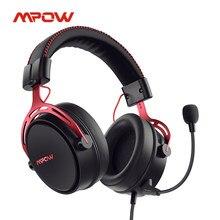 Mpow ar se ps4 gaming headset 3d surround som com fio fones de ouvido com cancelamento de ruído microfone para ps4 ps5 xbox um interruptor