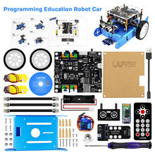 Kit educativo de Robot IBOT programable LAFVIN para coche, para programación gráfica Arduino, con Manual de usuario y tutorial de CD(China)