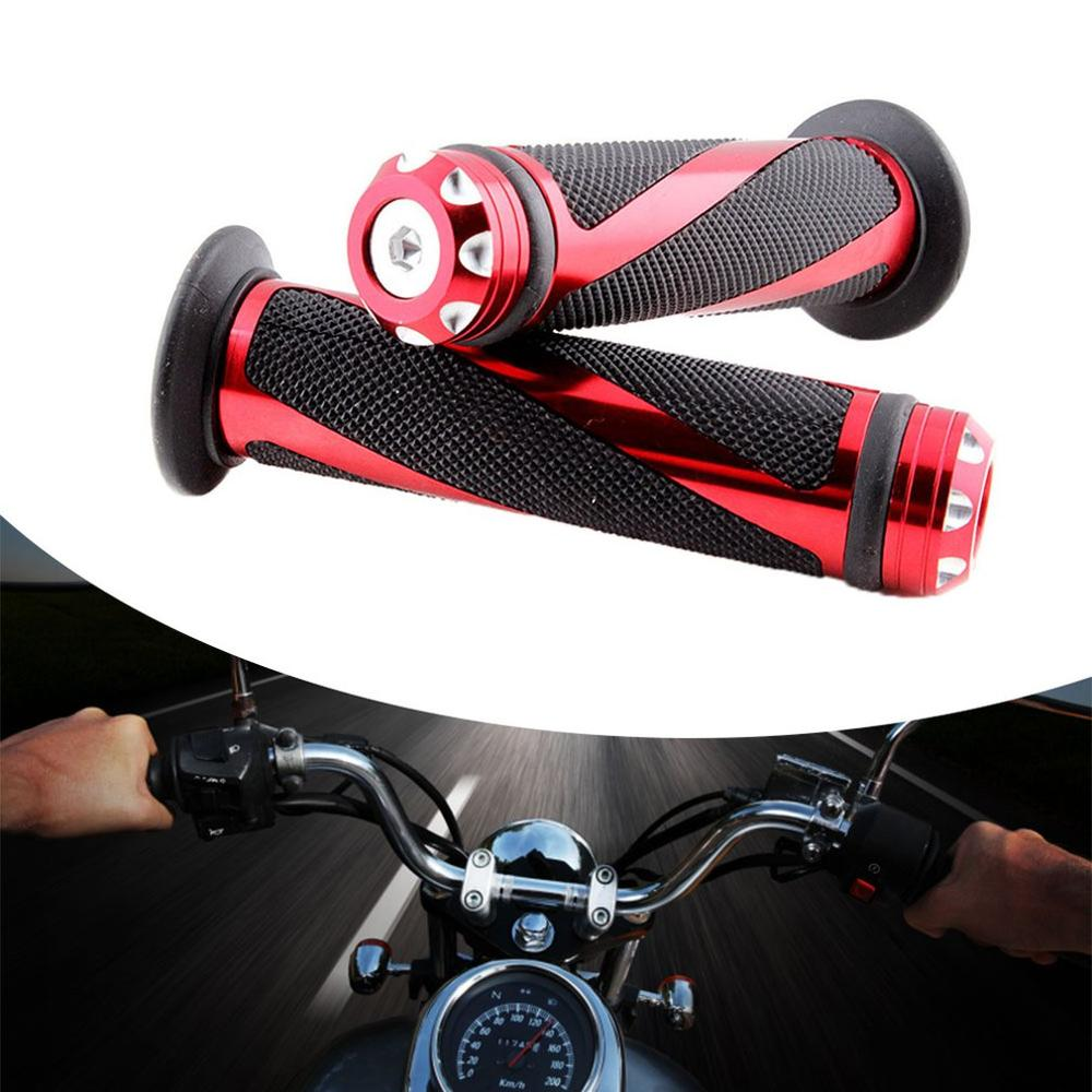 1 Pair 22mm Motorcycle Handlebar Grips Anti-slip Handle Rotatable Hand Grips Motorcycle Accessories