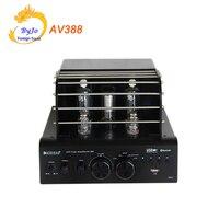 AV388 Bluetooth Vakuum Rohr Stereo audio Verstärker 35w + 35w USB MP3 Spielen BASS Audio ausgang 2 1 Rohr amp-in Verstärker aus Verbraucherelektronik bei