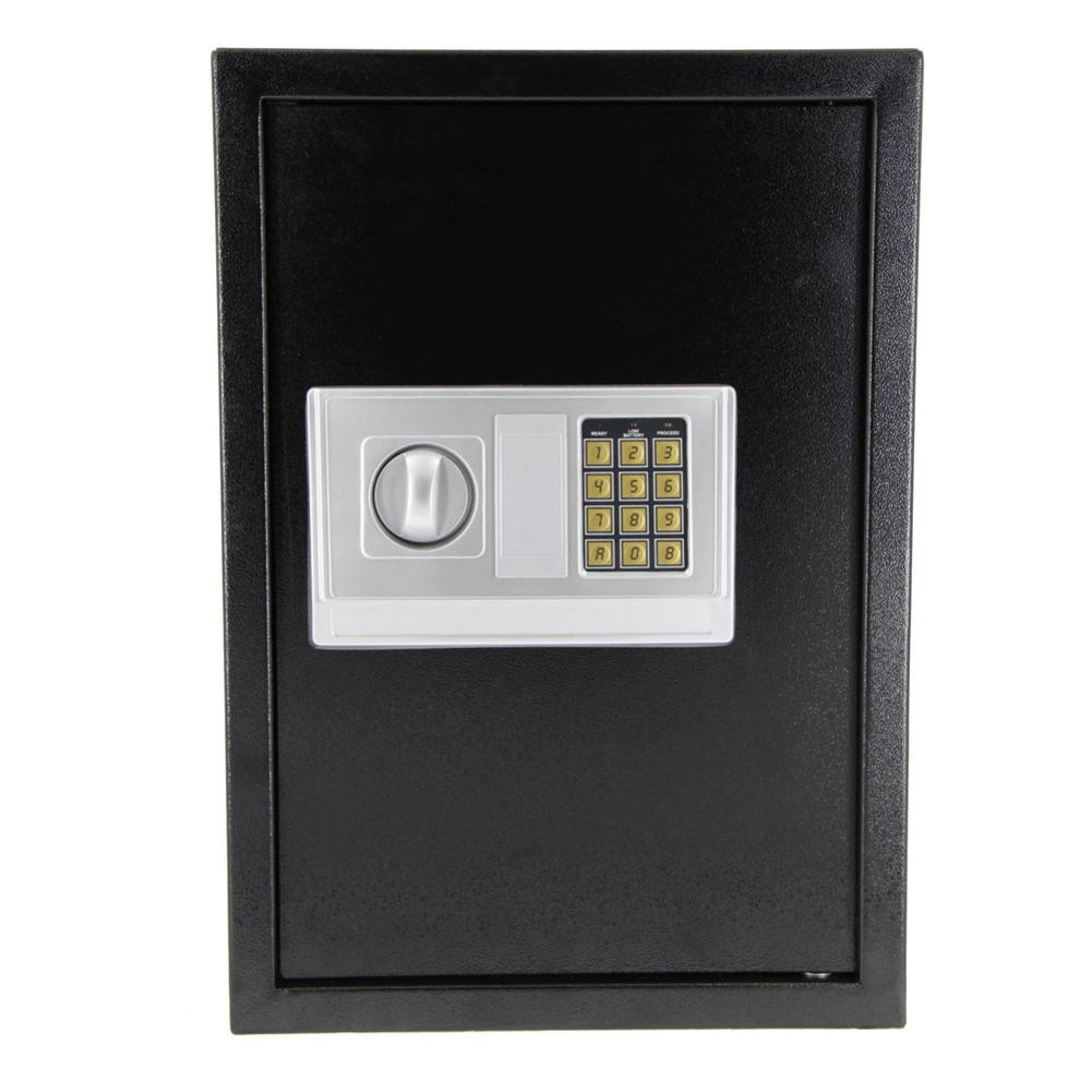 Iron Digital Keypad Safe Box With Code Protective Jewelry Money Safty Box Case Housing Black 50 X 35 X 30cm