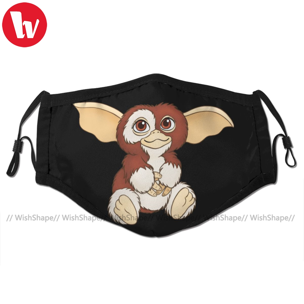 Mogwai Gremlins Mouth Face Mask Gizmo Facial Mask Fashion Cool With 2 Filters For Adult