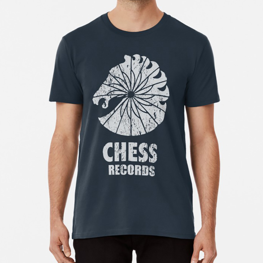 Chess Records T Shirt Chess Records Chicago Blues Music Muddy Waters Chuck Berry Rock And Roll <font><b>Illinois</b></font> Retro image