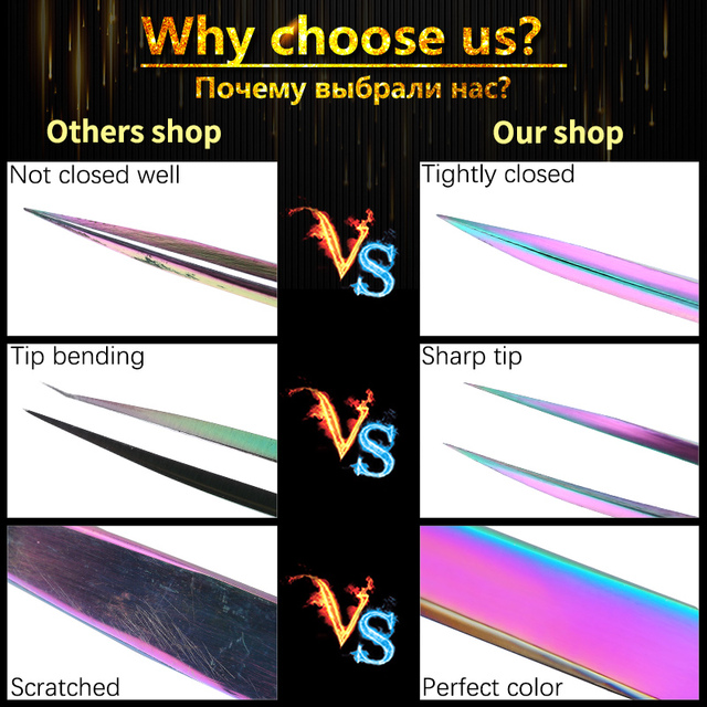 Professional Eyelashes Tweezers For Lashes Extension Nipper Stainless Steel High Precision Eyelash Extension Tweezers Set 2