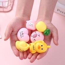 Мини Милая Розовая свинка мягкие и милые заживляющие веселые детские игрушки для выдавливания стресса рельефный Декор силиконовые Мультяшные игрушки