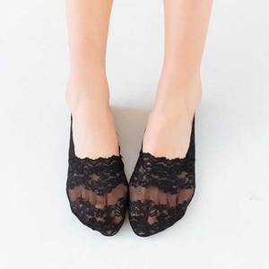 Silicone Shallow Women Socks Lace Slipper Ankle Socks Invisible Seamless Low Cut Boat Socks For Female Ladies Casual Calcetines