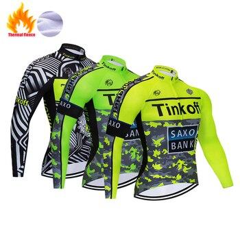 Tinkoff Pro Invierno Polar térmico Ciclismo Jersey Ropa Ciclismo Mtb manga larga...