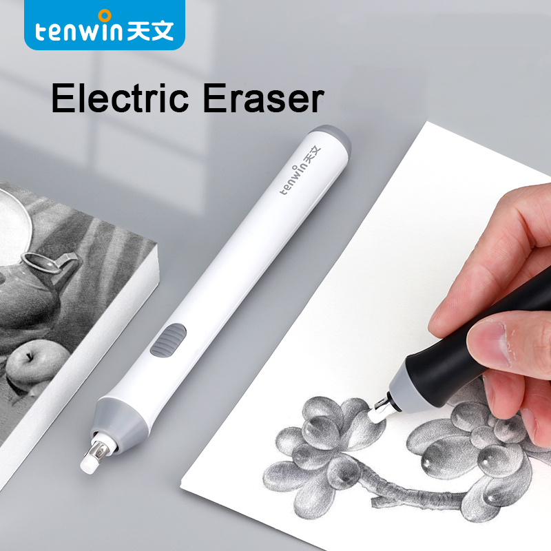 Tihoo Adjustable Mechanical Rubber Electric Eraser Pencil Refill Mechanic Stationery for Kids Highlights For Sketch Drawing