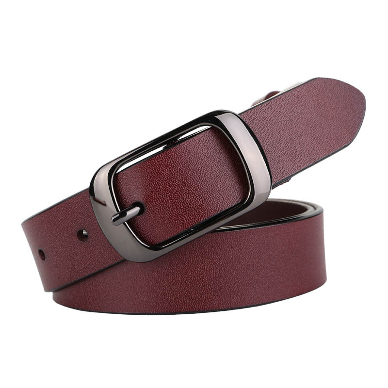 Vintage Decorative Casual Soft Leather Belt Women Black Brown Silver Buckle Female Hight Waist Belts For Ladies Jeans Dresses