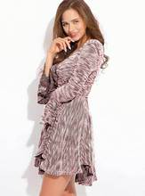Autumn New Maternity Clothes Long-sleeved Womens Knitted  V-neck Fashion Sexy Dress Pregnancy Robe