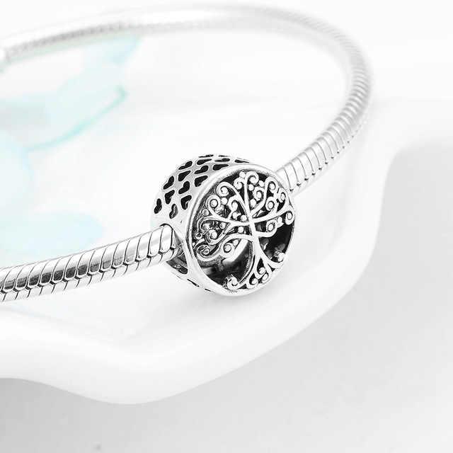 2019 новый полый Микки жизнь дерево подвеска в форме короны подходит оригинальный Pandora браслет или ожерелье с шармами брелок ювелирные изделия для женщин мужчин решений