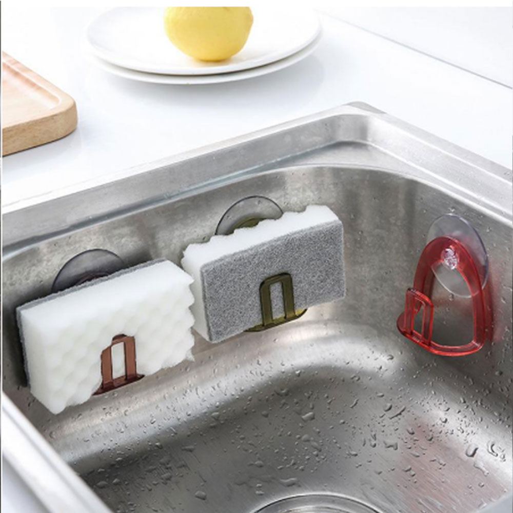 Suction Cup Gutters Asphalt Sponge Storage Rack Kitchen Sink Soap Rack Asphalt Shelf Rack Kitchen Tool Accessories