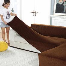 Новый плюшевый чехол для дивана с серебристой лисой бархатный
