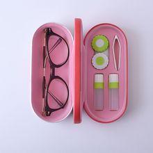 Чехол для очков ручной работы, двухслойная коробка в китайском стиле, дизайн с принтом, многофункциональные контактные линзы, красивый чехол s