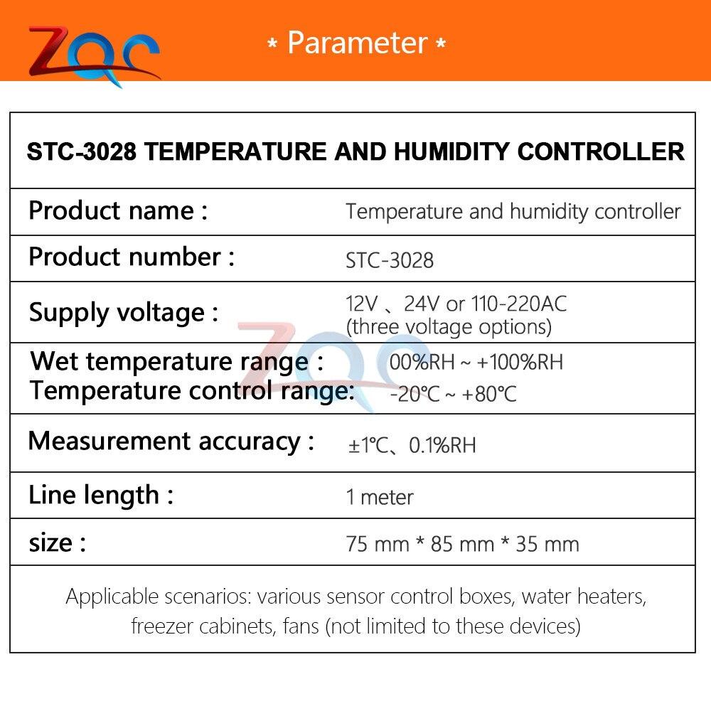 Ac 110v 220v 12v 24v digital temperatura