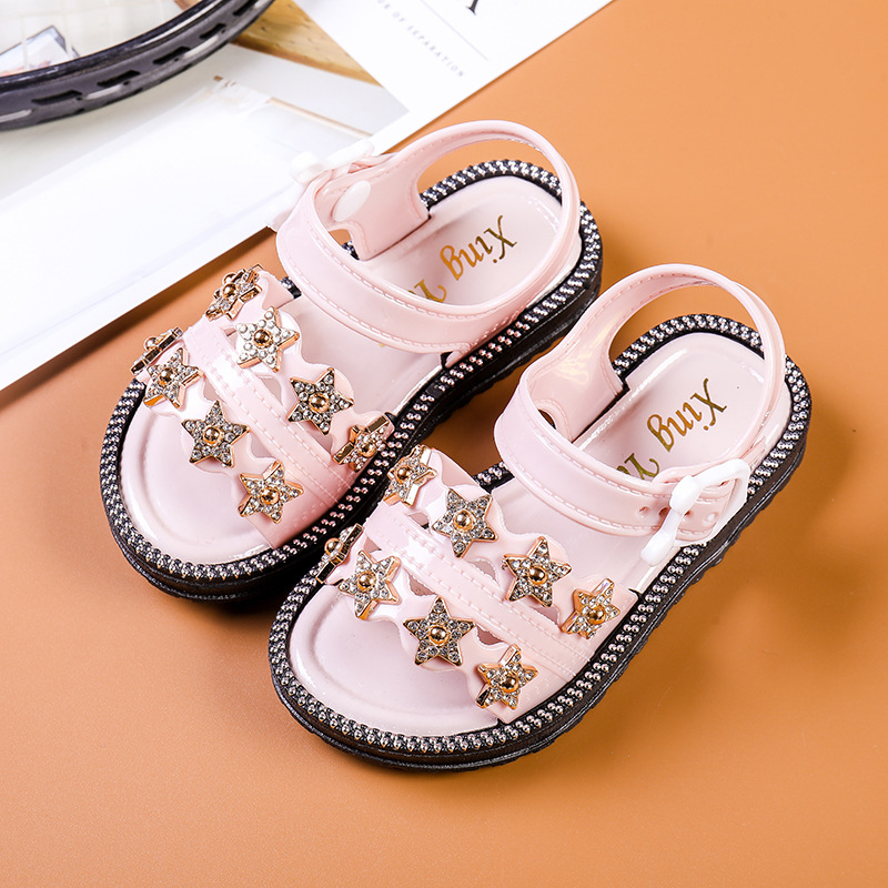 2020 New Summer Style Girls Sandals Children Toddler Kids Girls Beach Sandals Cute Bow Girls Princess Shoes 4-13 Years Sneakers