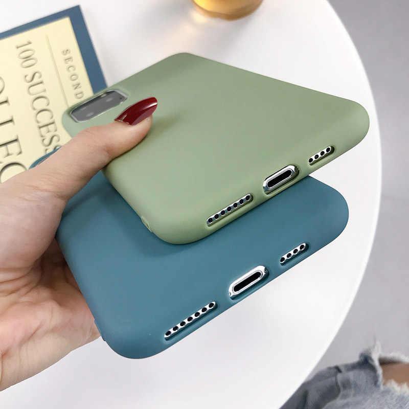 Lovebay Kẹo Dẻo Silicone Dành Cho iPhone 6 6 S 7 8 Plus X XR XS Max Ốp Lưng Điện Thoại Đơn Giản Chắc Chắn màu Mềm TPU Cho iPhone 11 Pro Ốp Lưng