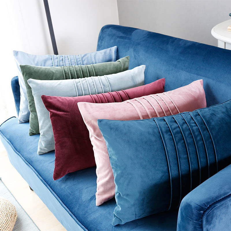 Hot Sale New Arrival Crepe Pillow Cover Velvet Sofa Cushion Cover Decorative Pillow