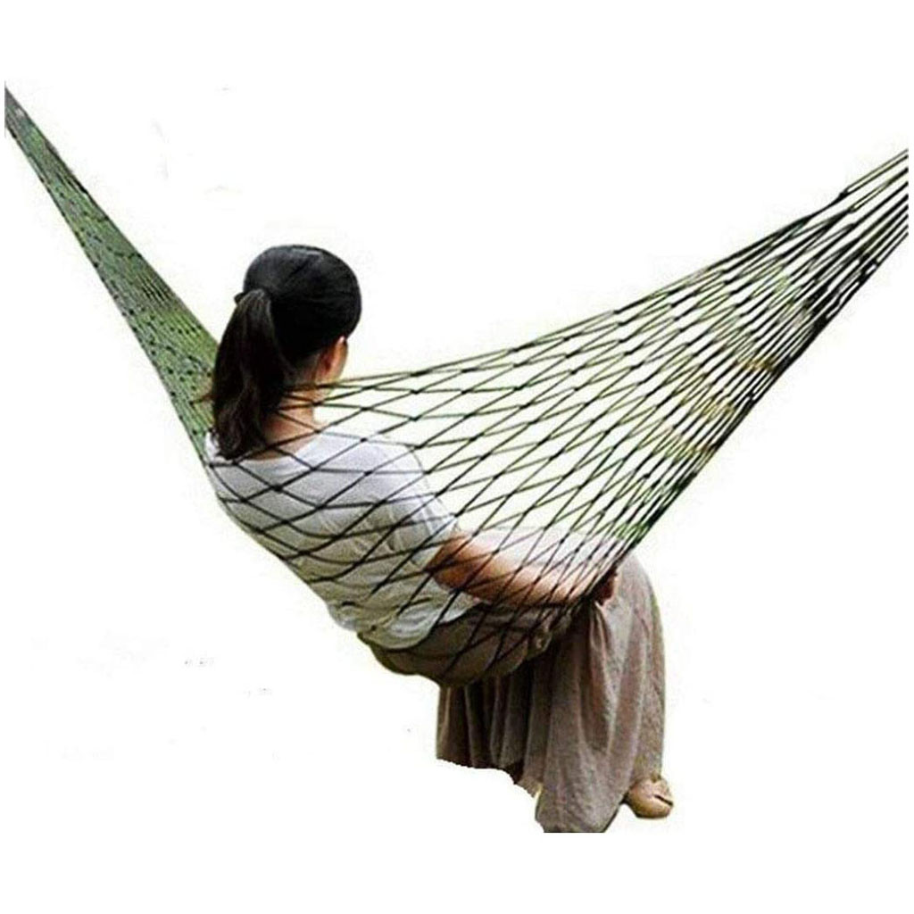 Portable Garden Hammock Nylon Hanging Bed Mesh Net Swing Sleeping Bed Outdoor Travel Camping Hammocks