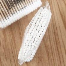 200 шт деревянные ватные палочки биоразлагаемые с двойным наконечником деревянные ватные палочки для макияжа SP99