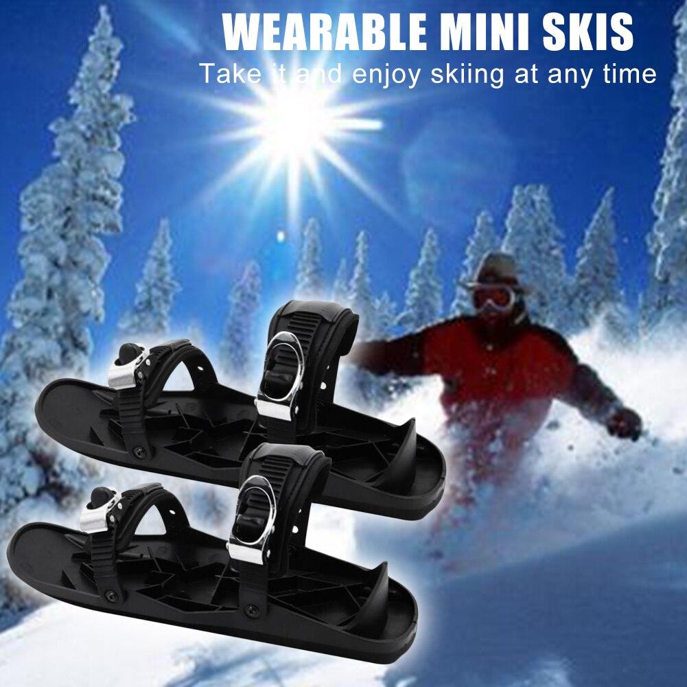 Outdoor Ski Skates Snow Shoes Winter Mini Snowfeet Snowboard Skiboard Snowblades for Outdoor Exercise Sport Decoration