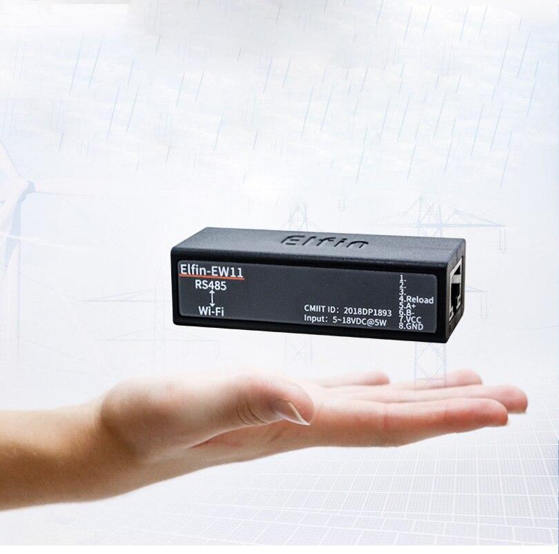 Elfin-EW11 Elfin-EW11-0 RS485 To WiFi Module Smart Home Serial Server Modbus TCP Homekit RJ45 TCP Protocol