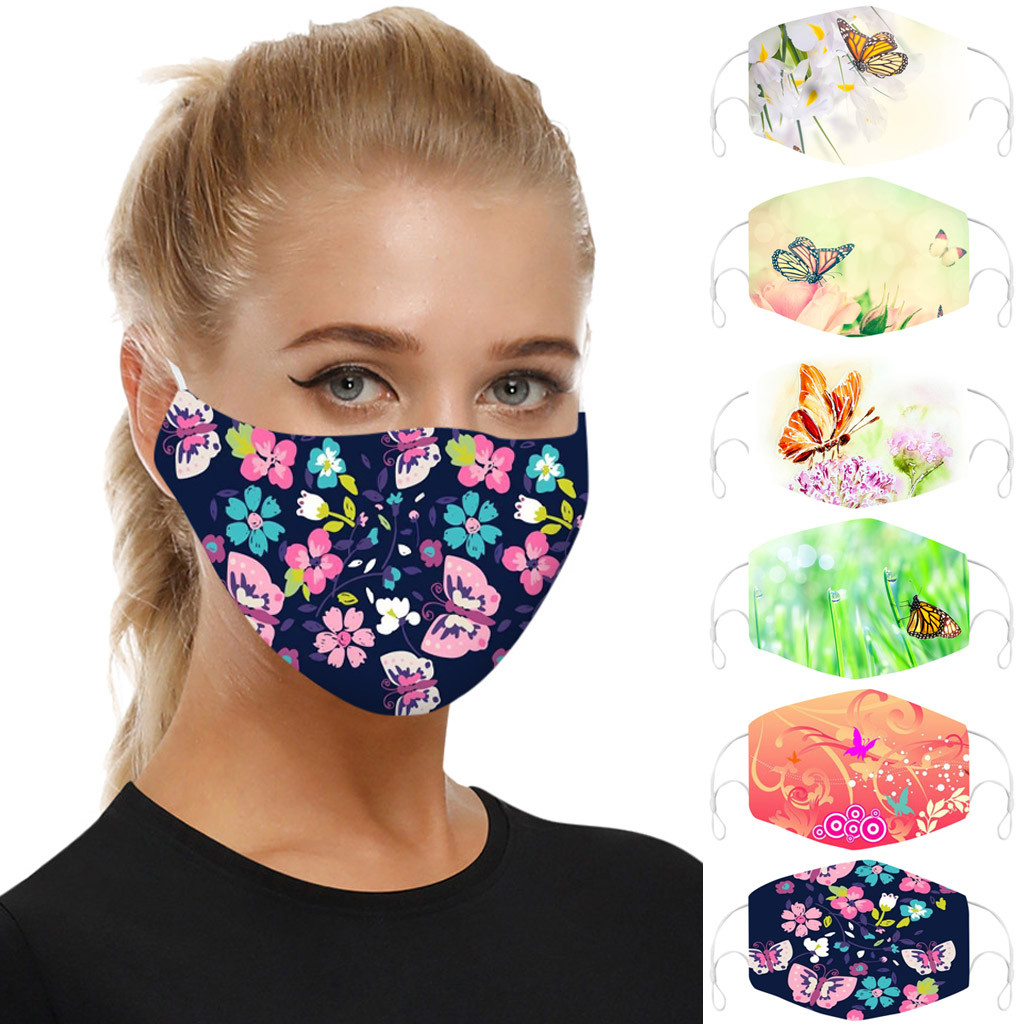 Universal Print Face Mask DustProof Mouth Mask Reusable Face Mask Smog-Washable Mascarillas Face Shield Masque Facial Mask Cover