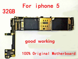 GIFT+For Original Motherboard for the Apple iPhone 5 32gb 100% working and unlocked Logicboard +TOOL