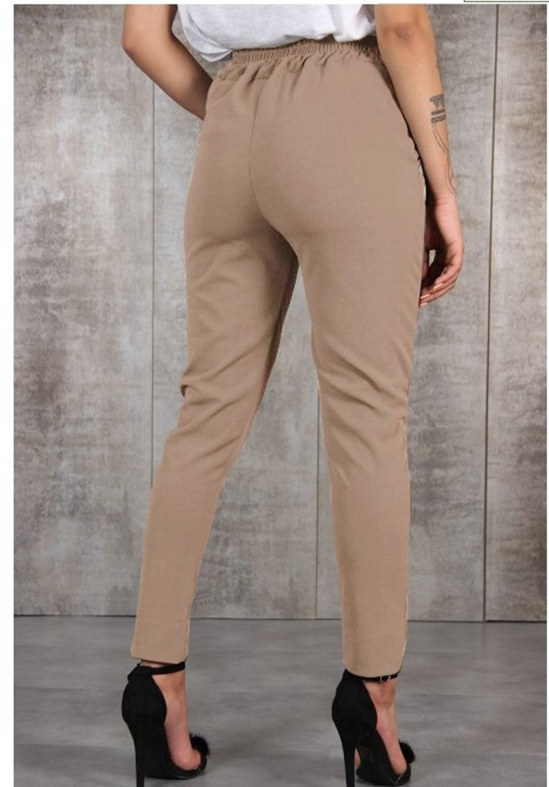 Casual Cotton Linen Women High Waist Wide Leg Pants Summer Autumn Office Band Loose Palazzo Trousers Female Black Yellow Pants