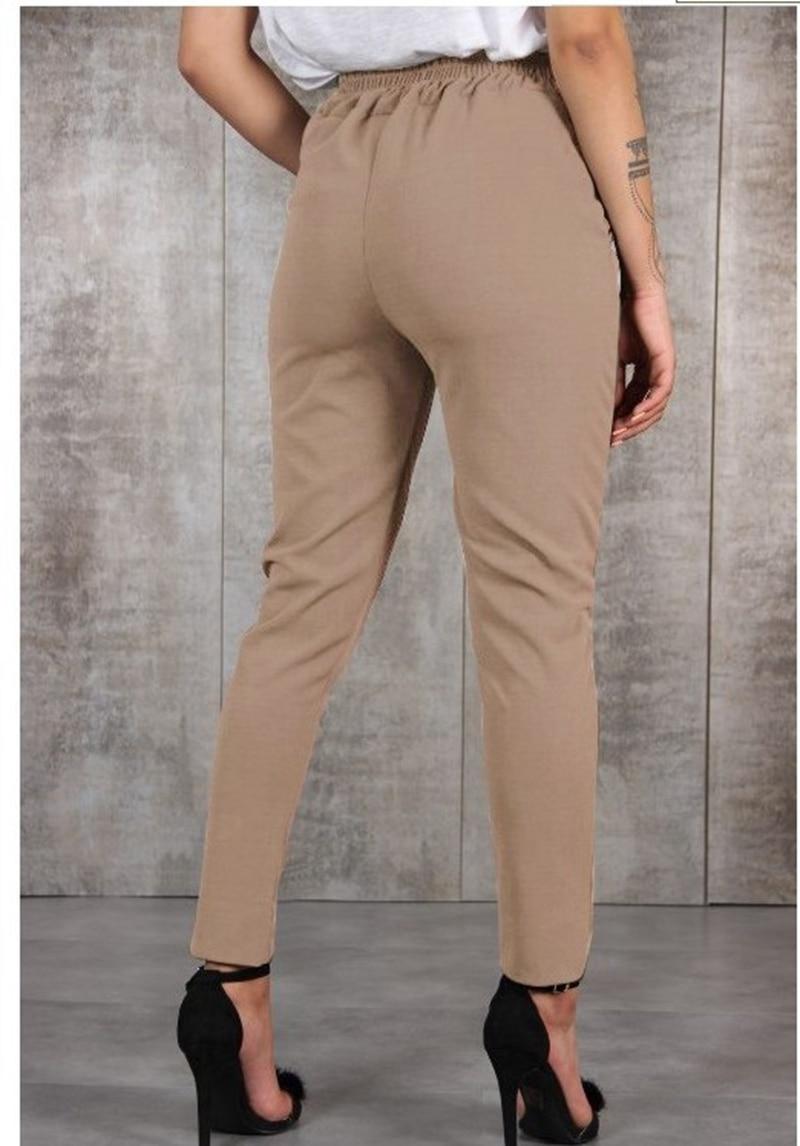 Casual Cotton Linen Women High Waist Wide Leg Pants Summer Autumn Office Band Loose Palazzo Trousers Female Black Yellow Pants