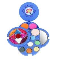 Поворотный дети дружественных девочек Макияж набор нетоксическая коробка притворяться комплект косметики игрушки набор подарок для девочек детей