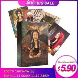 55 unidades/pacote anjos e ancestrais oracle cartões inglês ler placa de jogo adivinhação destino cartão oracle baralho