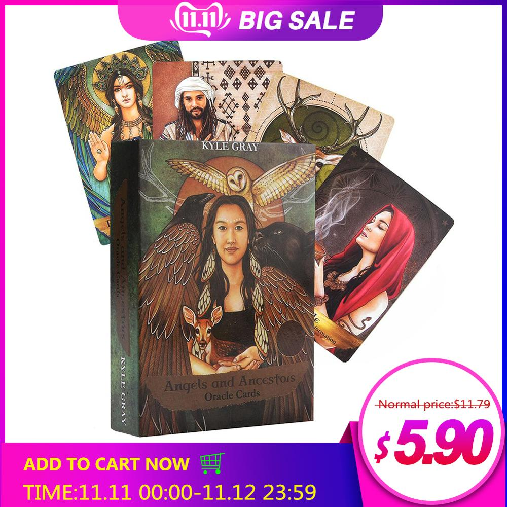 55Pcs/pack Angels And Ancestors Oracle Cards English Read Board Game Card Divination Fate Oracle Card Deck