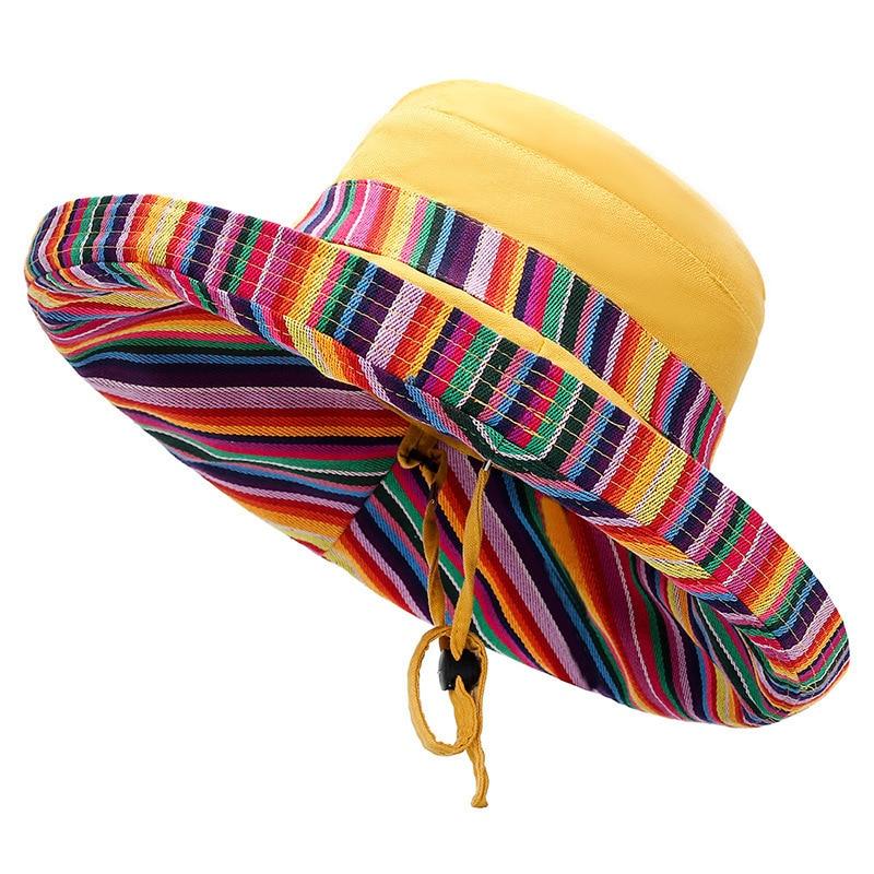 Hot Unisex Sun Hats Women Summer Double Side Bucket Hat Girl Pure Color Panama Fedoras Outdoor Fisherman Hat Visor Basin Cap