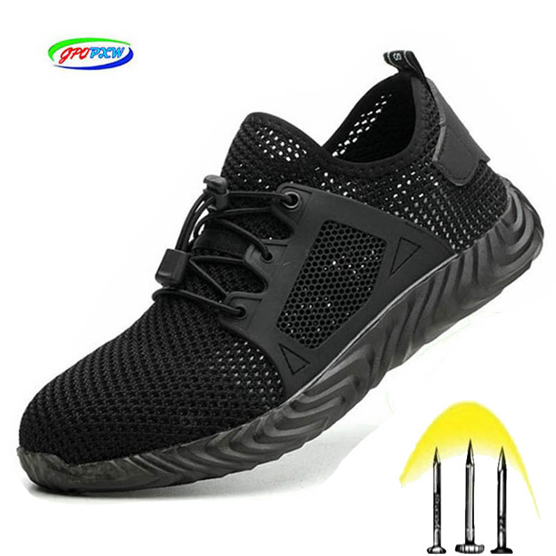 Indestructible Shoes Men And Women Steel Toe Safety Boots Work Air Puncture-Proof Non-slip Breathable Lightweight SneakersRyder