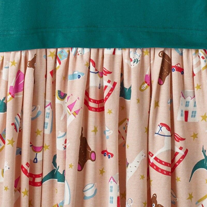 Little maven 2-7Years Baby Girls Unicorn Paillette Dress For Autumn Children's Kids Girl's Long Sleeve Dress Fall Clothing 2