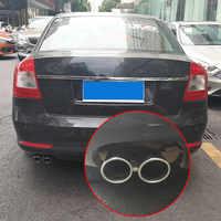 Auto Schalldämpfer Ende Rohr Dual Auspuff Tipps für Skoda Octavia 1,6 2014 Styling Teil