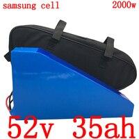 Freies gewohnheiten steuer 52V Lithium-batterie pack 52V 35AH elektrische fahrrad batterie verwenden samsung zelle für 48V 1000W 1500W 2000W ebike motor