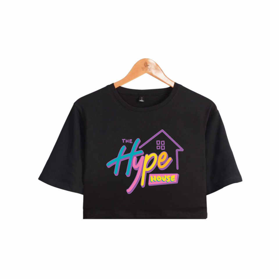 The Hype House Exposed navel Tshrit Charli D'Amelio T-Shirt Unisex Oversize O-neck Addison Rae Tops Women Funny Top Tshirt