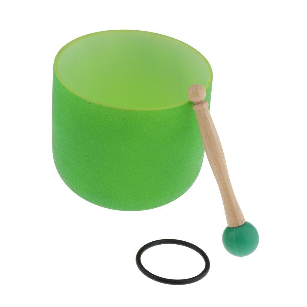 Cristal chantant bol C Note coeur Chakra 6 pouces (joint torique et maillet en caoutchouc inclus), aider les gens à méditer-4 couleurs en option - 4