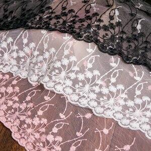 Image 5 - 1 หลาผ้าลูกไม้สีขาว 32 ซม.ความกว้างผ้าฝ้ายปักเย็บอุปกรณ์ริบบิ้นลูกไม้ TRIM ชุด DIY เสื้อผ้าผ้าม่านอุปกรณ์เสริม